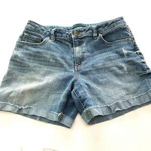 Apt 9 Cutoff Jean Shorts 8 Distress Raw Edge Cuff